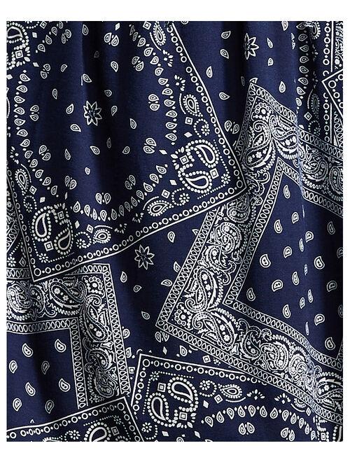 Suzanne Betro Dresses Navy & White Geometric Empire-Waist A-Line Dress - Women & Plus