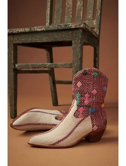 Momo Design Diamond Embroidered Western Boots
