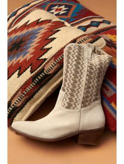 Anthropologie Cut-Out Suede Western Boots