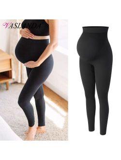 Vaslanda Maternity Leggings High Waist Belly Support Leggins for Pregnant Women Pregnancy Skinny Pants Body Shaping Postpartum Trousers