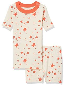 Moon and Back by Hanna Andersson Boys' and Girls' Organic Cotton 2 Piece Short Pajama Set