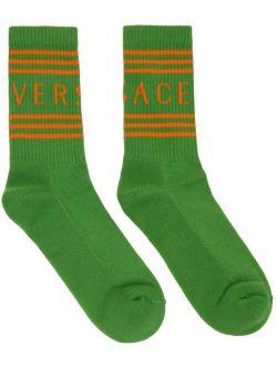 Green & Orange Logo Socks