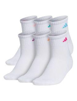 S Adidas 6-pk. Climalite Compression Quarter Socks