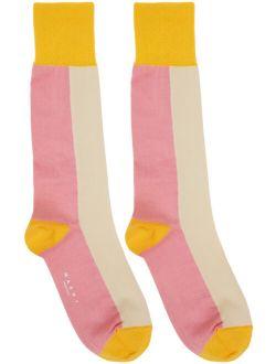 Marni Pink & Yellow Jersey Socks