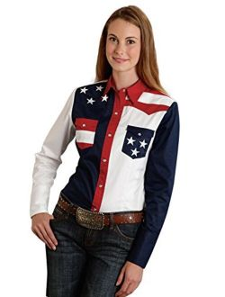 Roper Women's Pieced Stars and Stripes Patriotic