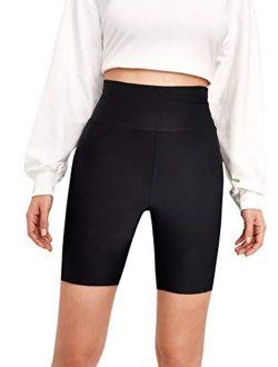 Women's Sexy Lace Trim Slip Shorts Yoga Bike Active Short Leggings