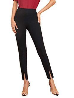 Women's Elegant Elastic Waist Skinny High Waist Pants