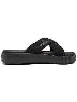 Women's Suede Platform Slide Sandals from Finish Line