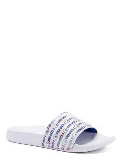 Lenticular Crossover Slide Sandal (little Boys & Big Boys)