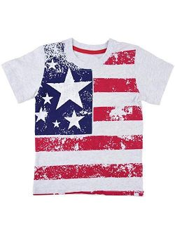 Little Boys 4th of July T-Shirt American Flag Tees Kids Toddler Short Sleeve Tee Shirts 2-8 Years