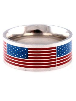 FORGIVEN JEWELRY American Flag USA Stainless Steel Ring
