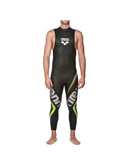 Men's Carbon Triathlon Wetsuit Sleeveless Neoprene Fiber-lined Panels Buoyancy For Open Water Swimming, Ironman And Usat Approved