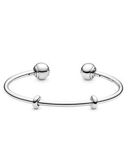 Jewelry Silver Open Bangle Sterling Silver Bracelet