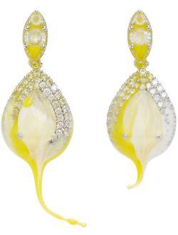 Ottolinger Yellow & White Rubber Drip Earrings