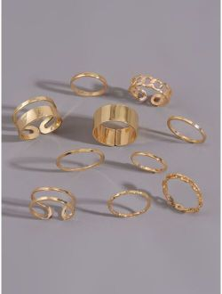 10pcs Simple Ring-stackable or knuckle ring