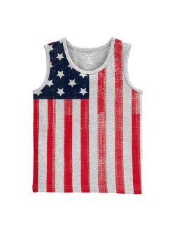 Toddler Boy Carter's American Flag Tank Top