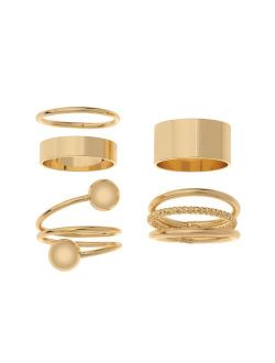 Sonoma Goods For Life® Gold Tone Wide & Layered Stackable Ring Set