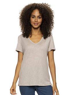 | Slub Jersey V-neck Tee | Short Sleeve T-shirt