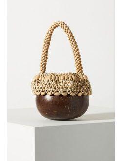 Aranaz Coconut Beaded Clutch