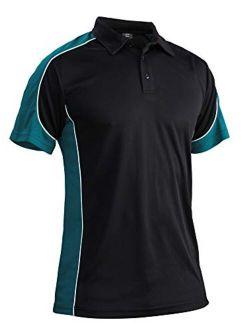 Men's Outdoor Golf Polo Short Sleeve 3 Button Quick Dry Casucal Pique Jersey Polo Shirts