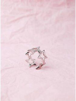 Star Design Cuff Ring