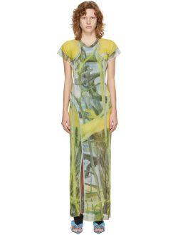 Ottolinger Yellow Graphic Mesh Dress
