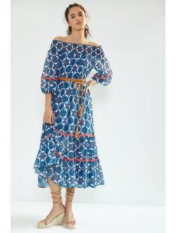 Mosaic Off-The-Shoulder Maxi Dress