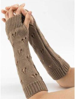 Hollow Out Heart Fingerless Gloves