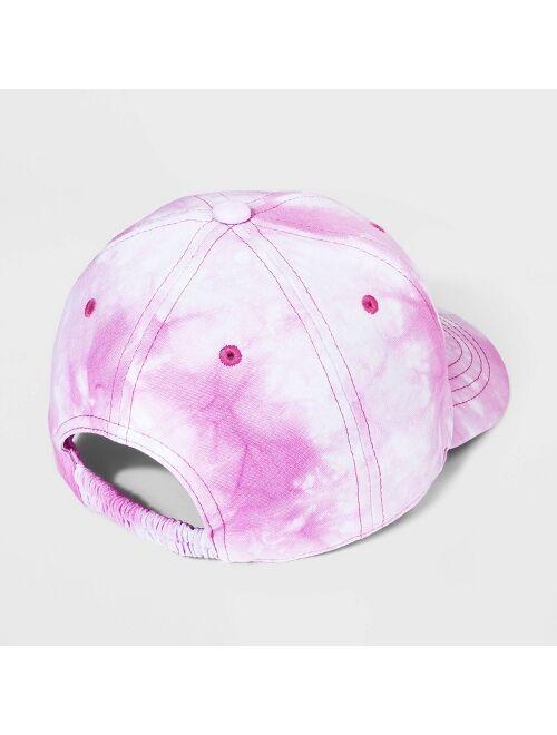 Girls' Tie-Dye Baseball Hat - Cat & Jack™ Pink
