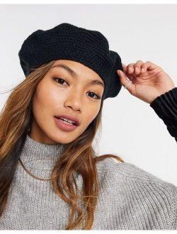 Crochet Beret In Black