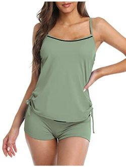 Tankini Swimsuits For Women Racerback Two Piece Bathing Suit