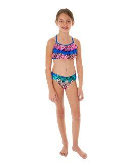 Glitter Beach Big Girls 2-Pc. Ruffle Bikini