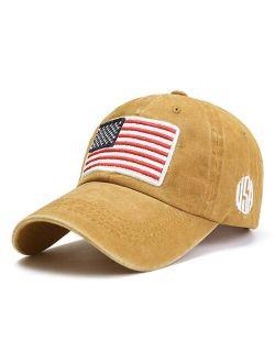 H.O.P.E Yellow American Flag Patch Baseball Cap