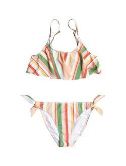 Big Girls Color Party 2 Piece Flutter Bikini Set