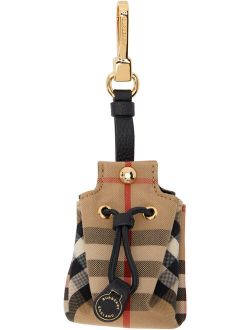 Burberry Beige Check Pouch Keychain