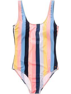 Snapper Rock Opti Stripe Scoop Swimsuit