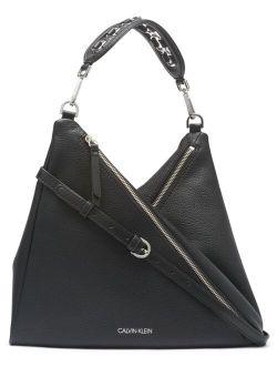 Women's Leather Geo Small Hobo Bag
