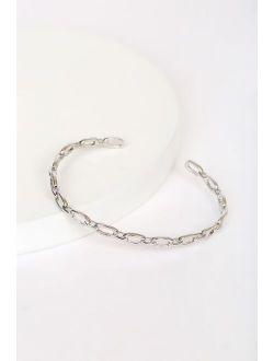 Let's Link Later Silver Chain Link Bracelet