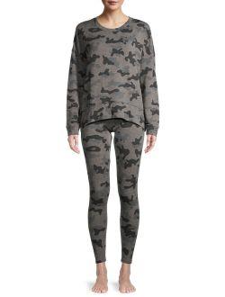 Women's and Women's Plus Lounge Sweatshirt and Leggings Set