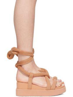 Issey Miyake Beige United Nude Edition Node Sandals