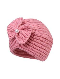 Century Star Baby Hats Warm Knit Baby Winter Hats Toddler Girl Beanie Hat Baby Girls Bows Hats Toddler Beanie Cap with Knot