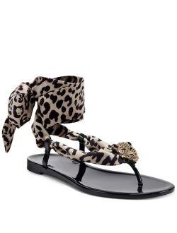 INC International Concepts INC Women's Malana Scarf Flat Sandals, Created For Macy's
