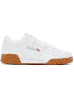 White Leather Workout Plus Sneakers