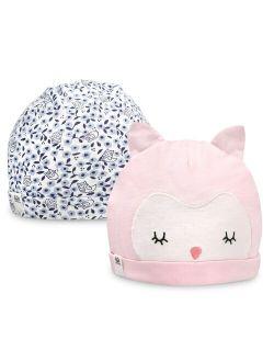 F The Loom® 2-pack Organic Owl Knit Hats