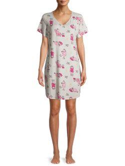 Women's Short Sleeve Sheep Sleepshirt