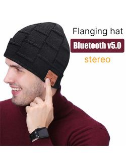 Bluetooth Beanie, Gifts for Men, Gifts for Women, Bluetooth Hat with Built-in Wireless Headphones, Gifts for Birthday @7