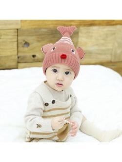 2021 Newborn Girl Boy Baby Hat Infant Winter Warm Cartoon Earflap Knit Crochet Beanie bunny hat bonnet enfant garçon шапка шапка