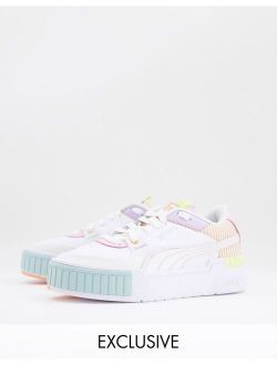 Cali Sport Sneakers In White Multi With Patchwork Details - Exclusive To Asos