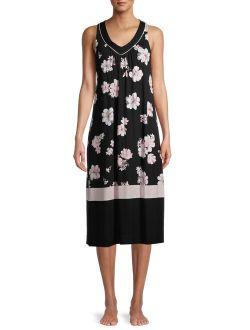 Women's and Women's Plus Modern Midi Sleepwear Dress