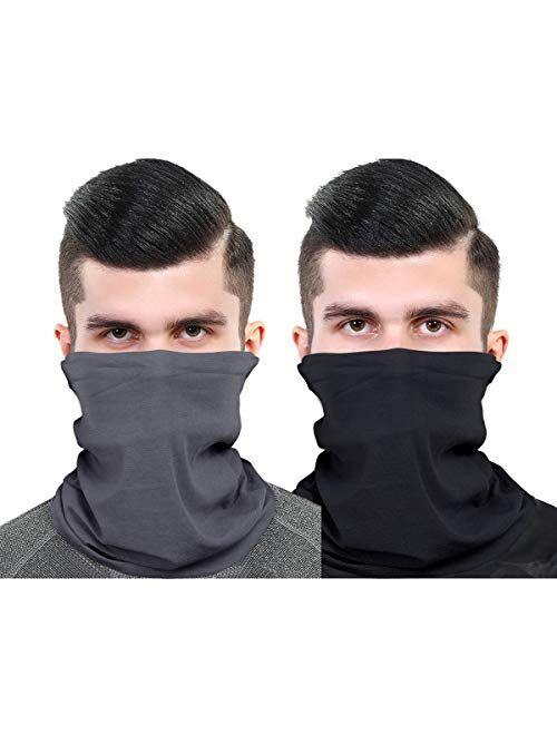 Unisex Neck Gaiter Set Face Scarf Mask Dust for Men and Women, Multifunctional bandanas Headband